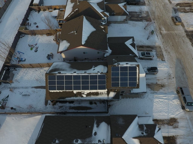 Grand Prairie Solar Panel Installation (Altitude view)